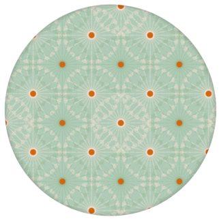 """Mint grüne Tapete """"Charming Circles"""" mit Pfeil Kreisen, Vliestapete Ornamenttapete für Küche"""