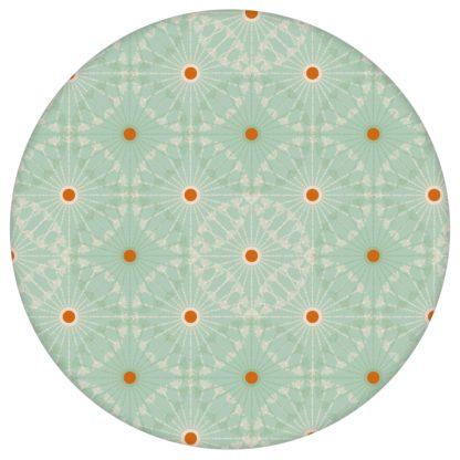 """Mint grüne Tapete """"Charming Circles"""" mit Pfeil Kreisen, Vliestapete Ornamenttapete für Küche aus den Tapeten Neuheiten Exklusive Tapete für schönes Wohnen als Naturaltouch Luxus Vliestapete oder Basic Vliestapete"""