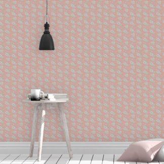 """Tapete Wohnzimmer pink: Schöne Blümchen Tapete """"Les fleurs du chateau"""", rosa Vlies Tapete Blumen, klassische Wanddeko Blumentapete für Wohnzimmer"""