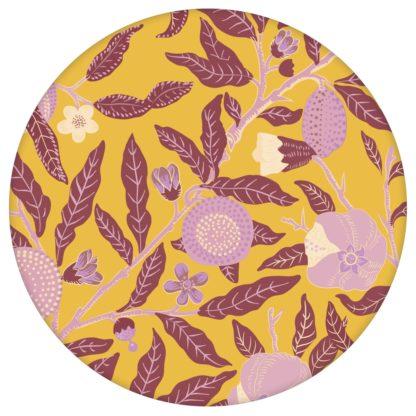 """Moderne Jugendstil Tapete """"Granatapfel Baum"""" nach William Morris, senf gelbe Vlies Tapete Natur Wanddeko für Schlafzimmer aus den Tapeten Neuheiten Blumentapeten und Borten als Naturaltouch Luxus Vliestapete oder Basic Vliestapete"""