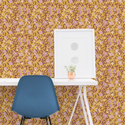 Üppige barocke Tapete aus der Tapeten Design Familie: -0012 als Naturaltouch Luxus Vliestapete oder Basic Vliestapete