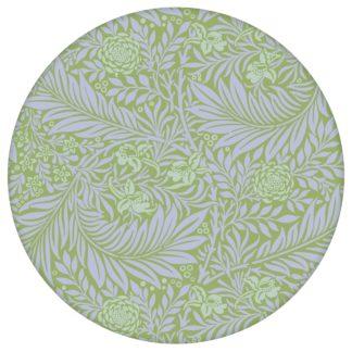 "Ornamentale Jugendstil Tapete ""Délice florale"" nach William Morris, lila grüne großer Rapport Vliestapete für Flur, Büro"