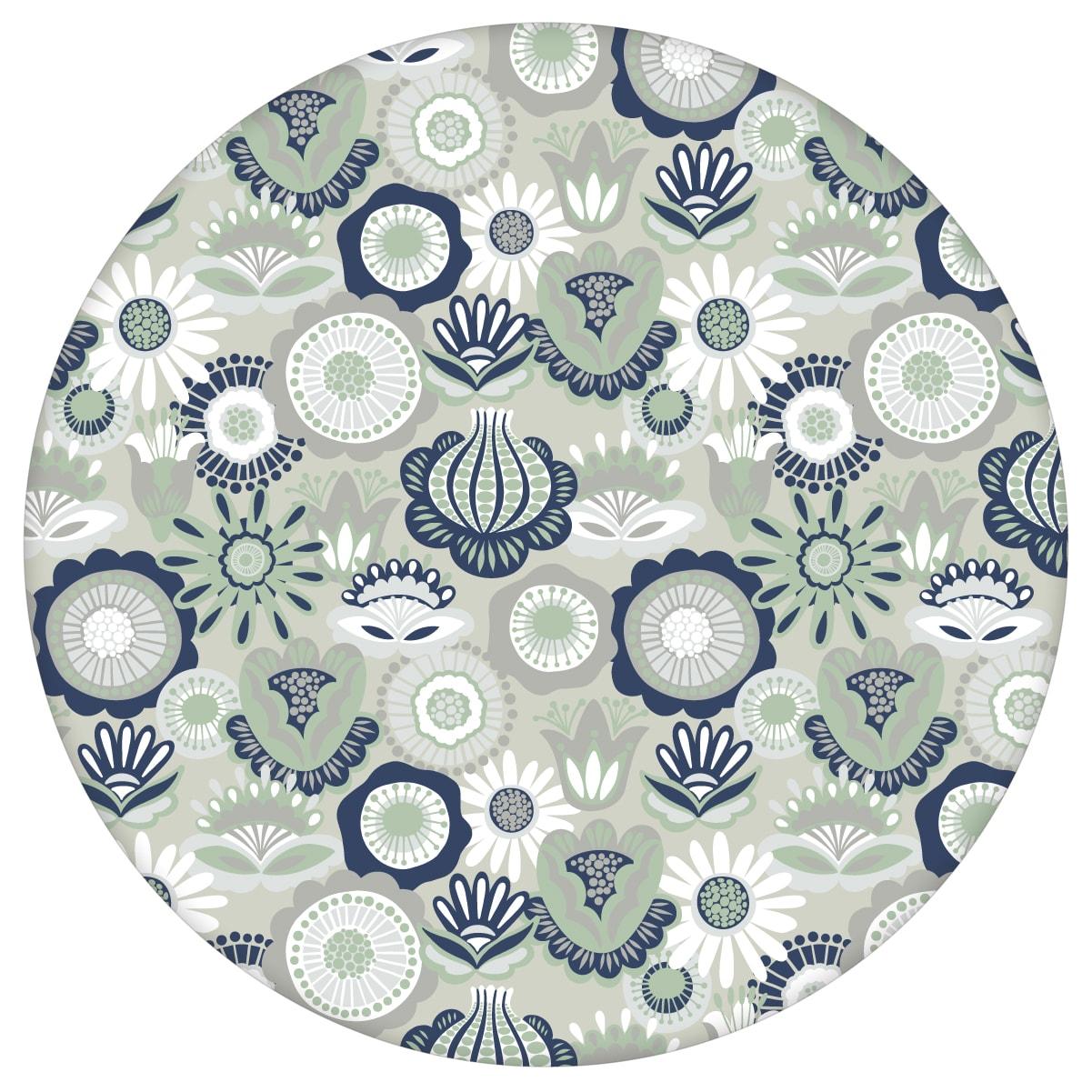 """Graue, florale Tapete """"Bauerngarten"""" Blüten im Folklore Stil, Blumentapete für Wohnzimmeraus dem GMM-BERLIN.com Sortiment: grau Tapete zur Raumgestaltung: #00130 #Bauerngarten #blueten #blumen #Blumentapete #Folklore #garten #grau #Graue Tapeten #Wohnzimmer für individuelles Interiordesign"""
