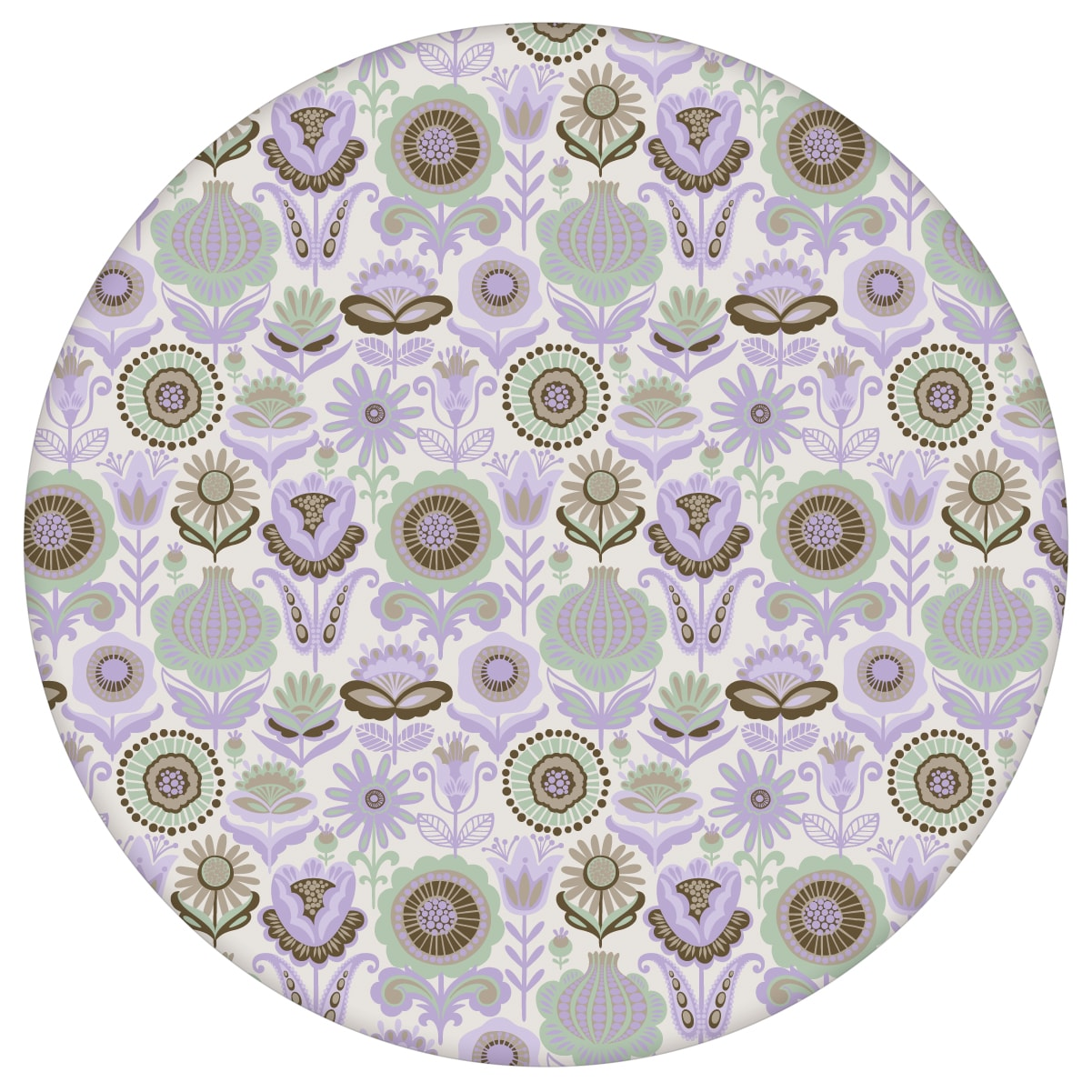 Mint grüne nostalgie Blüten Tapet