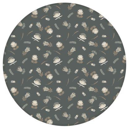 Graue, exotische Streublümchen Tapete mit kleinen Blüten, graue Vliestapete für Wohnzimmeraus dem GMM-BERLIN.com Sortiment: grau Tapete zur Raumgestaltung: #00132 #blumen #Blumentapete #Exotik #grau #Graue Tapeten #Indien #Streublümchen #Wohnzimmer für individuelles Interiordesign