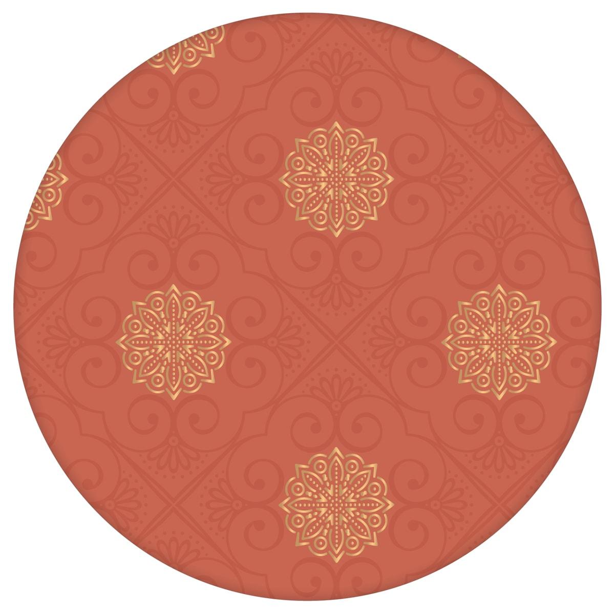 """Rote Tapete oriental """"Mandarin"""", rot braune Vlies Tapete Ornamente, elegante Wanddeko für Schlafzimmeraus dem GMM-BERLIN.com Sortiment: rote Tapete zur Raumgestaltung: #00135 #braun #Braune Tapeten #chinesisch #grafisch #ornamente #Ornamenttapete #rot #rote Tapeten #schlafzimmer für individuelles Interiordesign"""