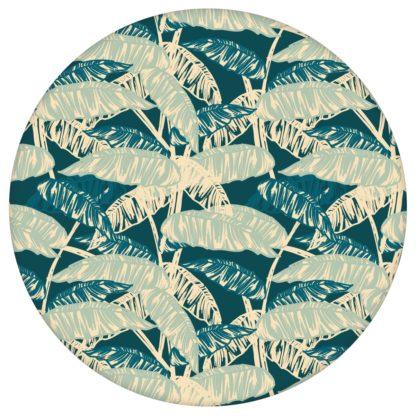 """Grün blaue Tapete """"Wild Bananas"""" mit Blättern, Vlies Tapete üppige Blumentapete für Flur, Büroaus dem GMM-BERLIN.com Sortiment: grüne Tapete zur Raumgestaltung: #00137 #Banane #Blätter #blau #Blaue Tapeten #blumen #Blumentapete #Büro #dschungel #flur #gruen #Grüne Tapeten für individuelles Interiordesign"""
