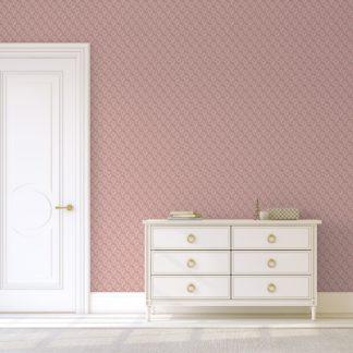 """Tapete Wohnzimmer pink: Rosa Tapete """"Sensaina"""" mit Blüten Dolden, Vlies Tapete Blumen, delikate, leichte Blumentapete für Wohnzimmer"""