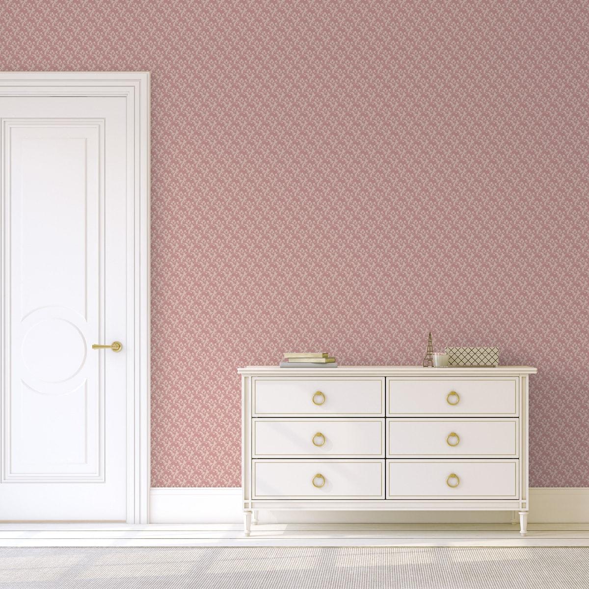 Tapete Wohnzimmer pink: Rosa Tapete
