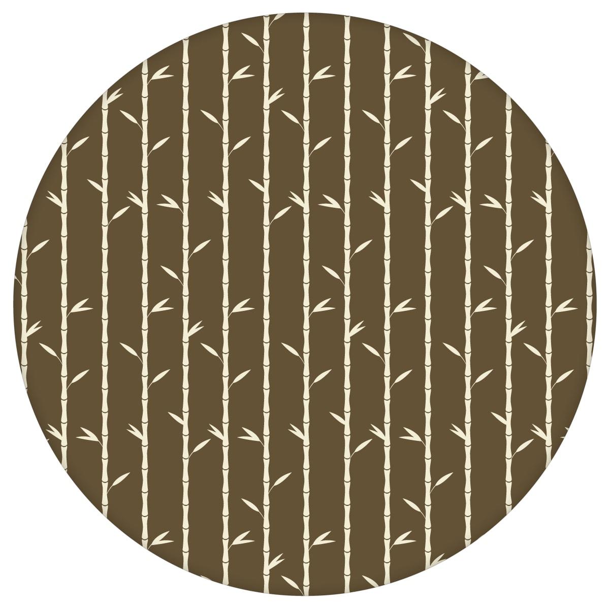"""Grafik Tapete """"Bamboo Garden"""" mit Bambus, braune schöne Wanddeko Blumentapete für Schlafzimmeraus dem GMM-BERLIN.com Sortiment: braune Tapete zur Raumgestaltung: #00163 #blumen #Blumentapete #braun #Braune Tapeten #kakadu #obst #schlafzimmer #sommer #tropisch #Vogel #Zitrone für individuelles Interiordesign"""