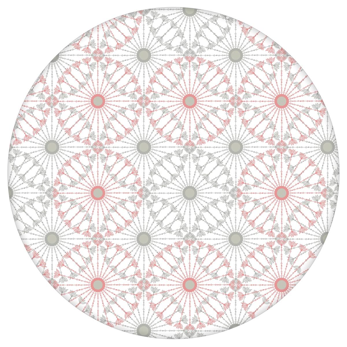 """Rosa graue Tapete """"Charming Circles"""" mit Pfeil Kreisen, edle Wanddeko für Wohnzimmeraus dem GMM-BERLIN.com Sortiment: rosa Tapete zur Raumgestaltung: #00168 #grafisch #Grafische Tapete #grau #Graue Tapeten #kreise #ornamente #Pfeile #rosa #rosa Tapeten #Wohnzimmer für individuelles Interiordesign"""