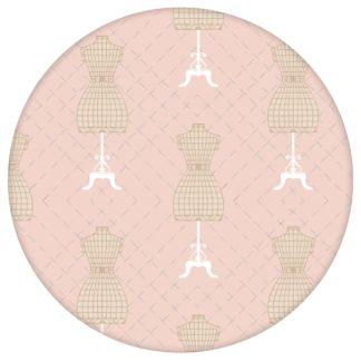 """Schöne Tapete """"Fashionista"""" mit Kleiderpuppen Schnittmuster, rosa beige Vlies Tapete Ornamenttapete für Flur, Büroaus dem GMM-BERLIN.com Sortiment: rosa Tapete zur Raumgestaltung: #00169 #beige #beige – cremefarbene Tapeten #Büro #Fashion #flur #Kleiderpuppe #Mode #motiv #rosa #rosa Tapeten #Schnittmuster #Wandgestaltung für individuelles Interiordesign"""
