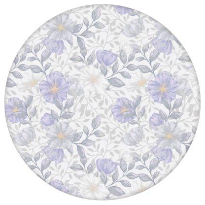 """Elegante Tapete """"Hibiskus Garten"""" mit üppigen Blüten, graue Vlies Tapete Blumentapete für Flur, Büro aus den Tapeten Neuheiten Blumentapeten und Borten als Naturaltouch Luxus Vliestapete oder Basic Vliestapete"""