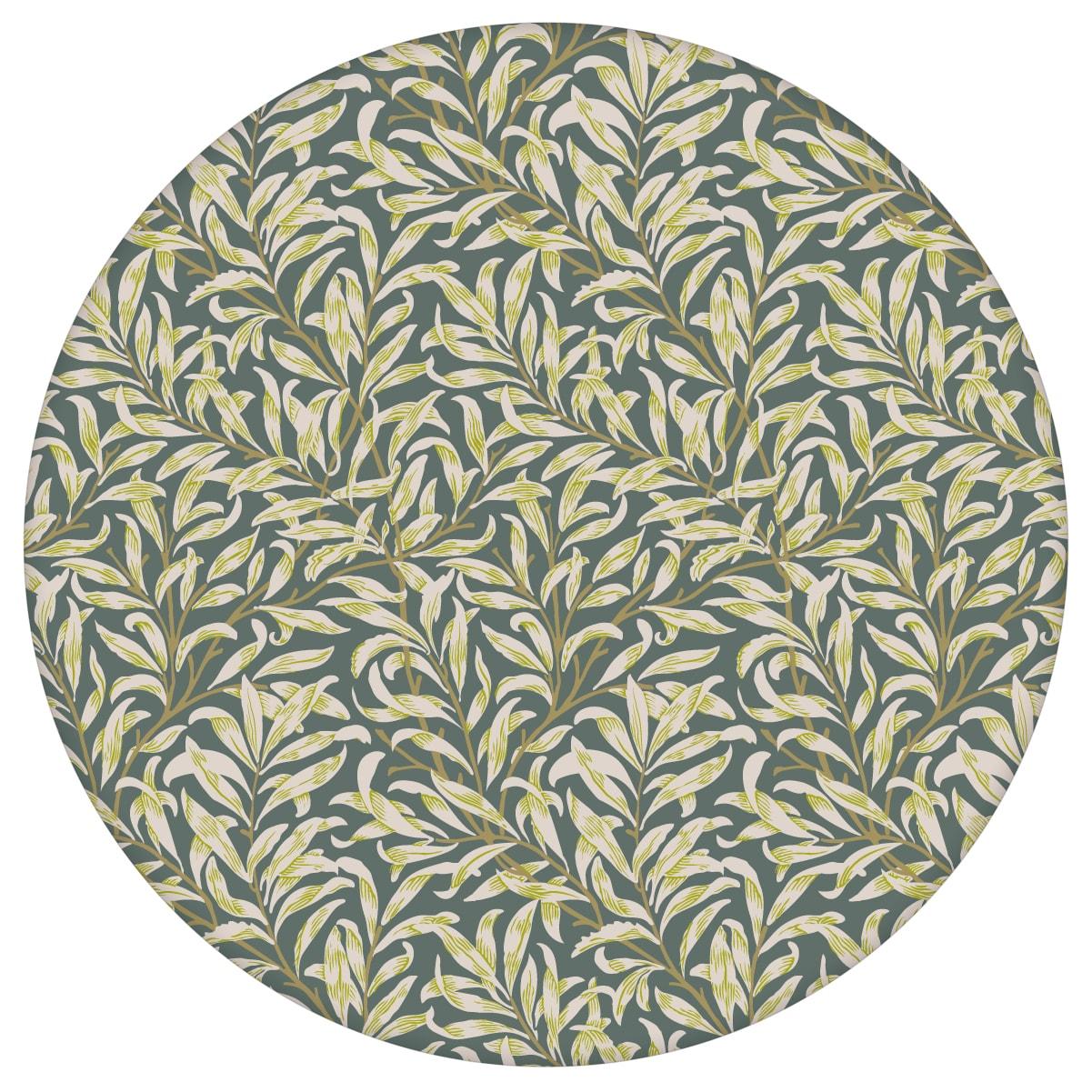 """William Morris Jugendstil Tapete """"Wilde Weiden"""", dunkel grüne Vlies Tapete Natur, Wandgestaltung für Schlafzimmeraus dem GMM-BERLIN.com Sortiment: grüne Tapete zur Raumgestaltung: #00173 #blumen #Blumentapete #dunkelgrün #Grüne Tapete #Jugendstil #Natur #Retro #schlafzimmer #vintage #Weide #WilliamMorris für individuelles Interiordesign"""