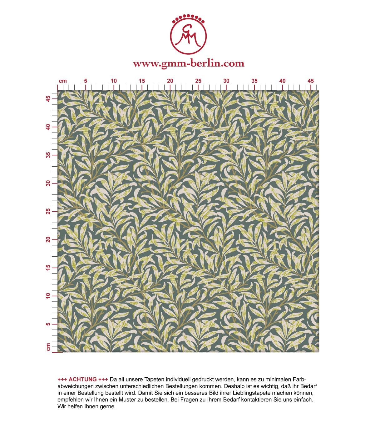 William Morris Jugendstil Tapete