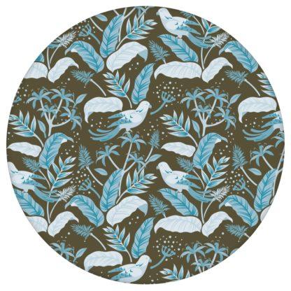 """Tropische """"Wild Birds"""" Tapete mit Dschungel Vögeln, braun blaue Vlies Tapete Blumentapete für Wohnzimmer aus den Tapeten Neuheiten Exklusive Tapete für schönes Wohnen als Naturaltouch Luxus Vliestapete oder Basic Vliestapete"""