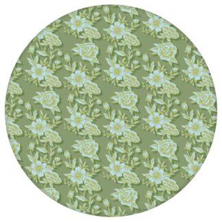 """Grüne Blümchen Tapete """"Les fleurs du chateau"""", grüne Vlies Tapete Blumen, schöne Blumentapete für Kücheaus dem GMM-BERLIN.com Sortiment: grüne Tapete zur Raumgestaltung: #00176 #blueten #blumen #Blumentapete #gruen #Grüne Tapeten #klassisch #kueche #Schloss #Streublümchen für individuelles Interiordesign"""