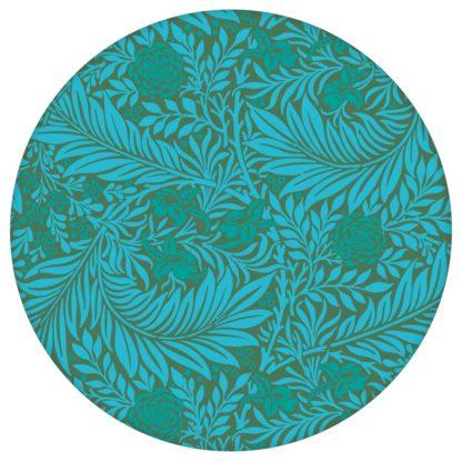 """Edle William Morris Jugendstil Tapete """"Délice florale"""", türkis grüne Vlies Tapete, großer Rapport Wanddeko für Wohnzimmeraus dem GMM-BERLIN.com Sortiment: grüne Tapete zur Raumgestaltung: #00177 #blumen #Blumentapete #gruen #Grüne Tapeten #Jugendstil #Natur #ornamente #Ranken #Retro #türkis #vintage #WilliamMorris #Wohnzimmer für individuelles Interiordesign"""