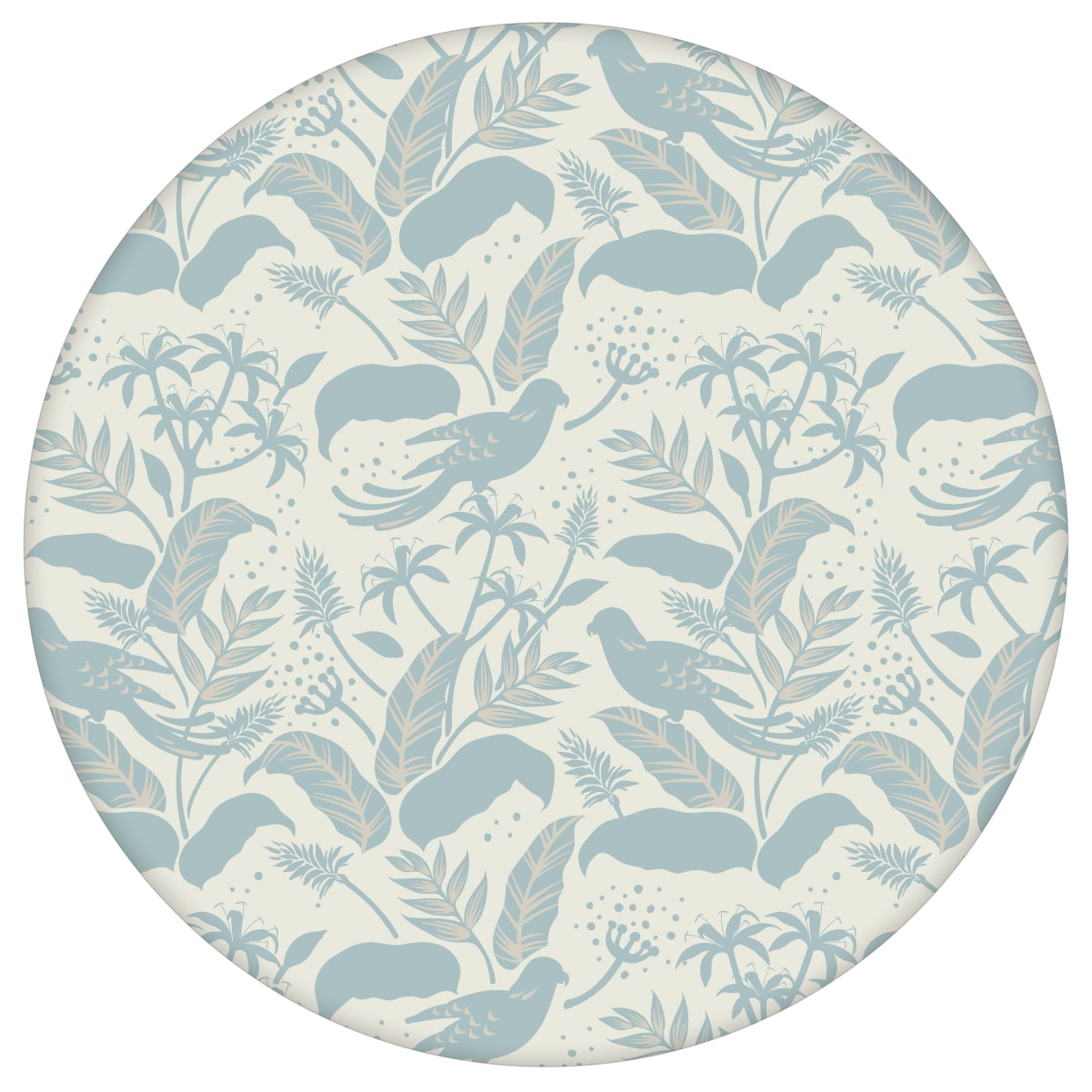 """Tropische Vogel Tapete """"Wild Birds"""" im Dschungel, hellblau beige Vlies Blumentapete für Schlafzimmeraus dem GMM-BERLIN.com Sortiment: blaue Tapete zur Raumgestaltung: #00175 #beige #beige – cremefarbene Tapeten #Blätter #Blaue Tapete #dschungel #hellblau #Papagei #schlafzimmer #Tier Tapete #tiere #tropisch #voegel für individuelles Interiordesign"""