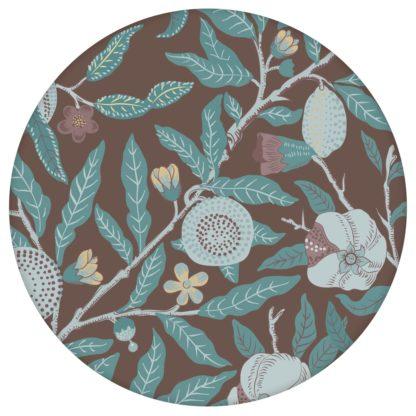 """Edle Jugendstil Tapete """"Granatapfel Baum"""" nach William Morris, braune Vlies Tapete Blumen Natur, schöne Blumentapete für Küche aus den Tapeten Neuheiten Blumentapeten und Borten als Naturaltouch Luxus Vliestapete oder Basic Vliestapete"""