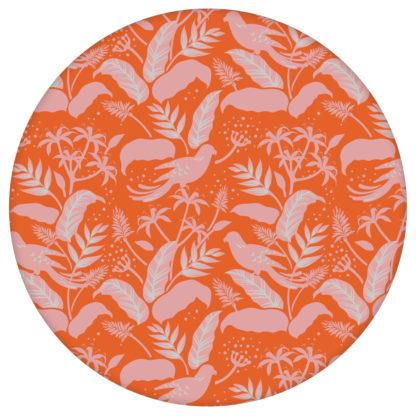 """Moderne Tapete """"Wild Birds"""" mit tropischen Dschungel Vögeln, orange rosa Vlies Tapete Blumen Tiere für Flur, Büro aus den Tapeten Neuheiten Exklusive Tapete für schönes Wohnen als Naturaltouch Luxus Vliestapete oder Basic Vliestapete"""