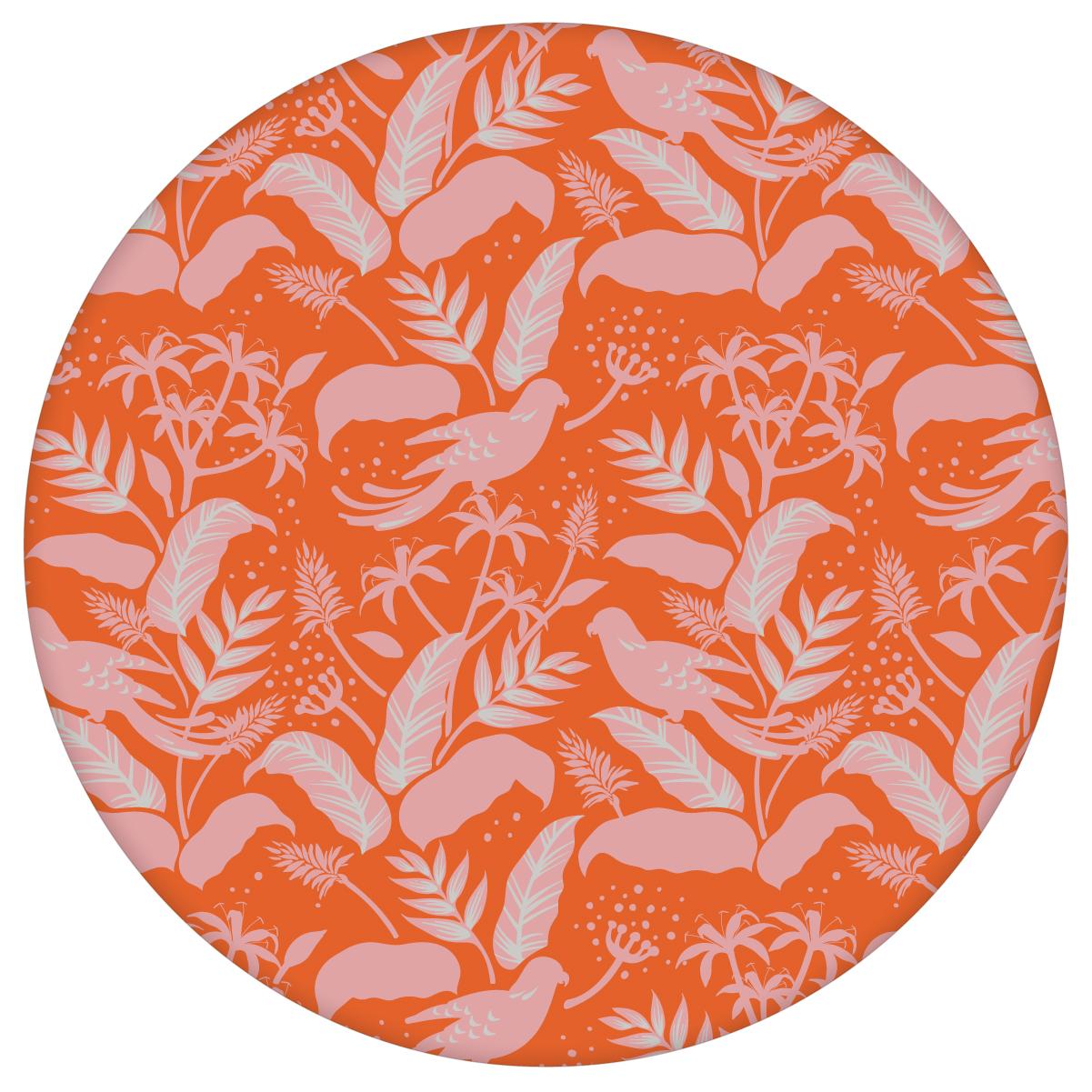 """Moderne Tapete """"Wild Birds"""" mit tropischen Dschungel Vögeln, orange rosa Vlies Tapete Blumen Tiere für Flur, Büro  3"""