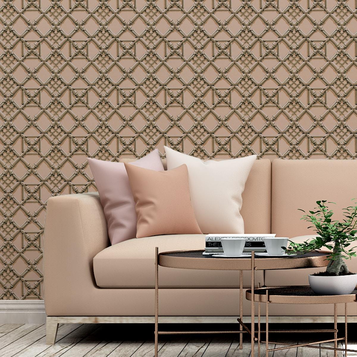 Rosa Wohnzimmer Tapete: Klassische Tapete